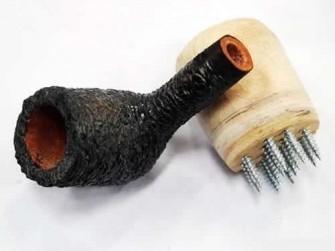 做斗工具:自己做一个制作烟斗的麻面神器
