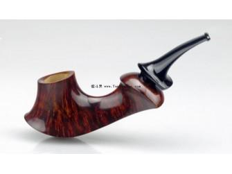 烟斗斗型:火山式烟斗